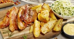 Meniu Piept de Porc Picant
