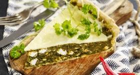 Quiche spanac și brânză